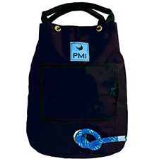 "PMI Rope Bag, Holds 150' 1/2"" Rope, Black"