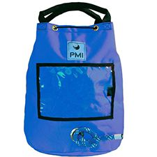 "PMI Rope Bag, Small Holds 150' 1/2"" Rope, Blue"