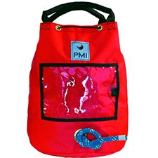 "PMI Rope Bag, Small Holds 150' 1/2"" Rope, Red"