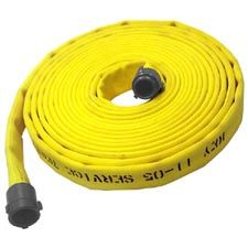 "Key Fire Hose, 1.0"" x 100' Yellow, Rubber, 600 PSI, 1"" NH"