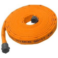"Key Fire Hose, 1.75"" x 50' Orange, Rubber, 600 PSI,1.5""NH"