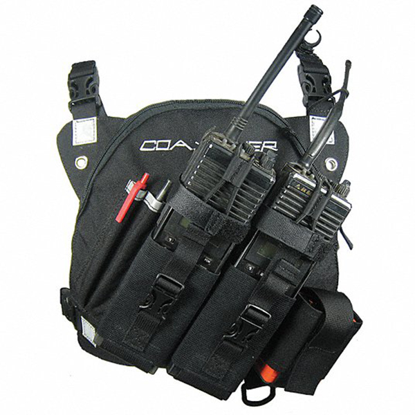 Coaxsher Chest Harness, DR-1 Command Dual Radio Black
