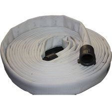 "Key Fire 1"" Forestry Hose White, 50', NST Couplings"
