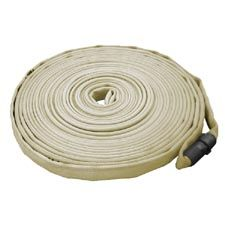 "Key Fire Hose, 1.0"" x 100' Tan, Forestry, 600 PSI, 1"" NH"