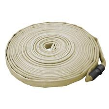 "Key Fire Hose, 1.0"" x 50' Tan, Forestry, 600 PSI, 1"" NH"