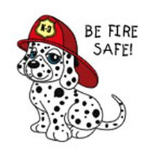 "BE FIRE SAFE 2"" TEMPORARY TATTOO"
