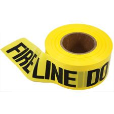 "Barricade Tape, 2mm, 3""x1000', ""Fireline Do Not Cross"", YLW"