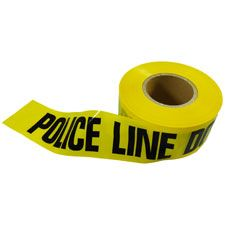 "Barricade Tape 3""x1000', 2mm, ""Police Line Do Not Cross"""
