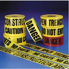 "Barricade Tape, 3""x1000', 2mm ""Sheriff's Line Do Not Cross"""