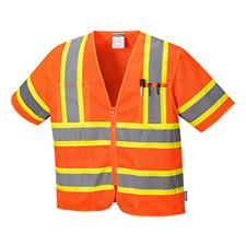 Portwest Augusta Sleeved High Visibility ANSI 3 Safety Vest