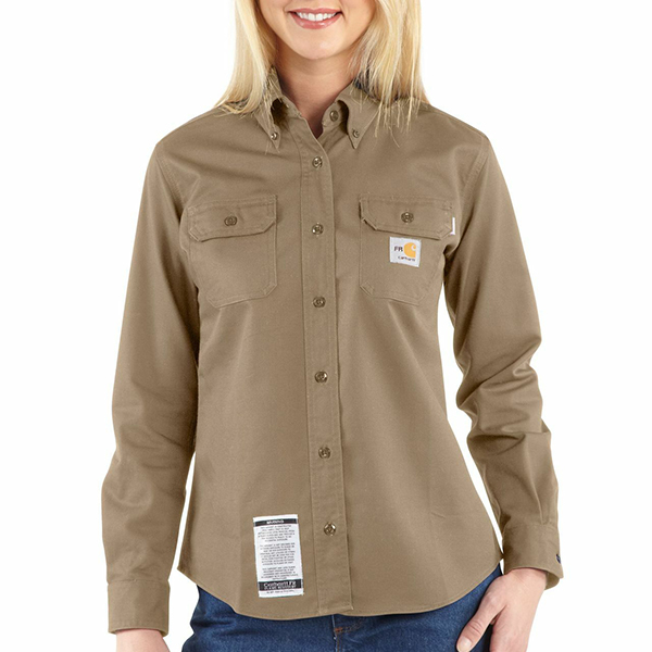 Carhartt Twill Shirt, FR w/ Pocket Ladies